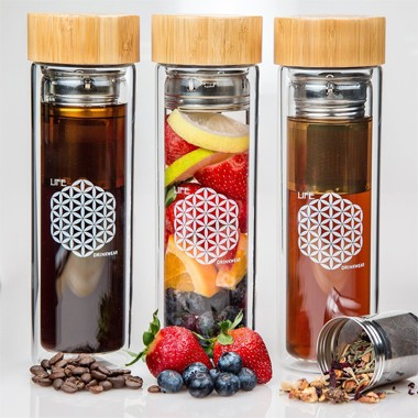 Bamboo Portable branded filter water bottle with tea filter Wholesaler