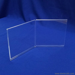 Factory Wholesale Clear Square Angled Acrylic Double Picture Frame Photo Holder