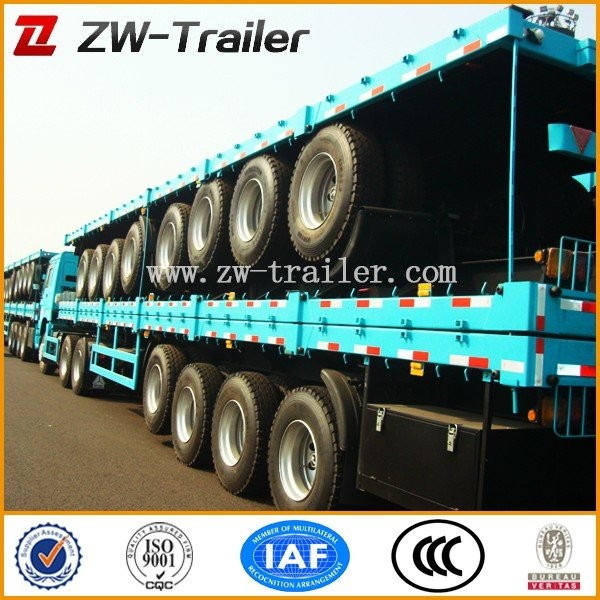 rita 3axle flatbed container semi trailer