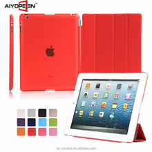 Manufactory Smart Magnetic Flip Cover Leather Case Housing for iPad 2/3/4 for Apple 2/3/4 Tablet