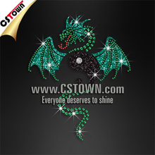 Dragon rhinestone transfer, iron on dragon crystal motif