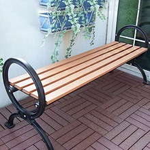 Garden bench / street bench with cast aluminum legs, plastic wood, contract furniture