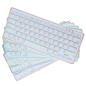 78 keys portable Rechargeable Bluetooth Ultra Slim Wireless Bluetooth Keyboard for iPad iPhone android