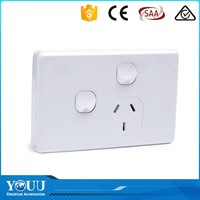YOUU Wholesale China Goods 2 Gang 1 Way Electric Wall Switch And Socket With Good Offer