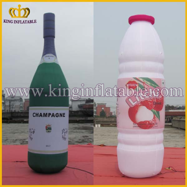 Custom Inflatable Milk Bottles Advertising Giant Inflatable Product Replicas