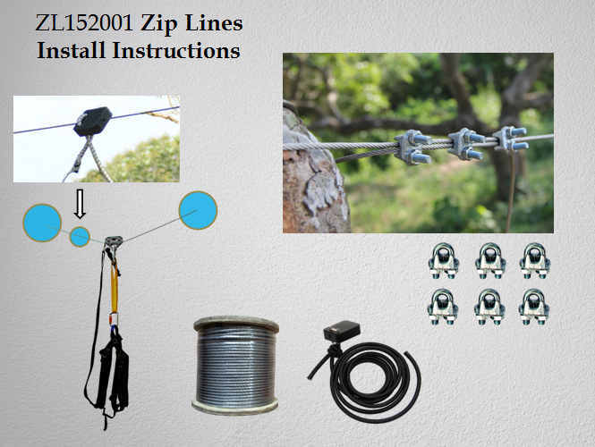 iZipline Heavy Duty Zip Line Cable Trolley Pulley to Bring in Colorful Fun and Many Enjoyments