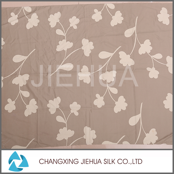 China market polyester mesh flower print fabric for printed bed sheet