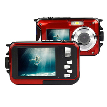 2017 Wholesale professional underwater digital camera with dual screen waterproof camera 3 colors optional