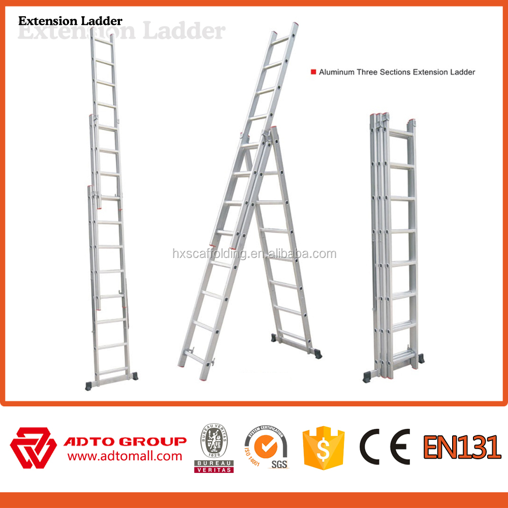 Aluminum extension ladder,extendable ladder,ladder stand aluminum tree ladder tree stand