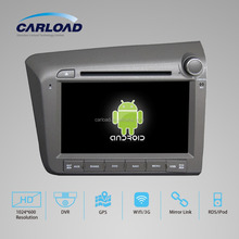 8in Android 2 din car dvd for civic 2012 RHD with GPS, iPOD, TV, RDS, Wifi, 3G, mirror functions