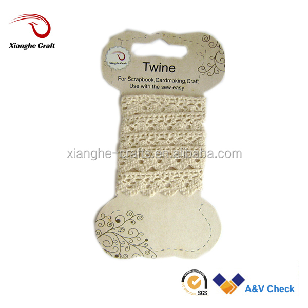 2014 hot sell ivory 100% Crochet Cotton lace ribbon China Factory