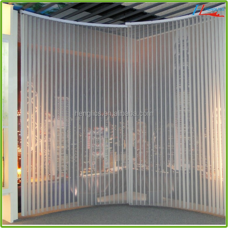 transparent pvc vertical blinds for office