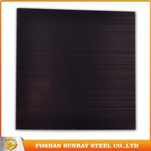 Chemical color coating hairline finish black stainless steel sheet
