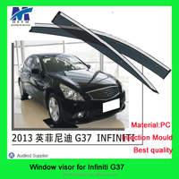 Injection mold type pc material G37 auto window visor