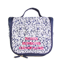 Hot sell cheap hanging large cosmetic bags with compartments for women