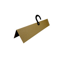 custom printing colorful kraft paper hanger for fabric with plastic hook