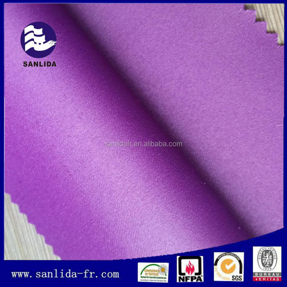 100 Polyester Inherent fire retardant curtain fabric