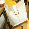 New type bucket clear pvc messenger bag , beach bag 2014