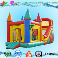 commercial grade big inflatable bounce house with slide,cheap prices bouncer slide combo for sale