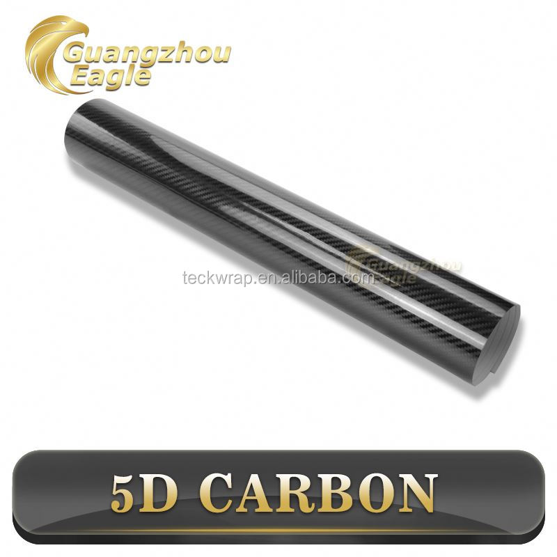 High Heat Resistence Carbon Fiber Vinyl 5D Black Car Wrap For Sale