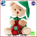Polar Bear Christmas Decoration /Plush Stuffed Christmas Bear With Hat / Plush Bear With Candy Bag
