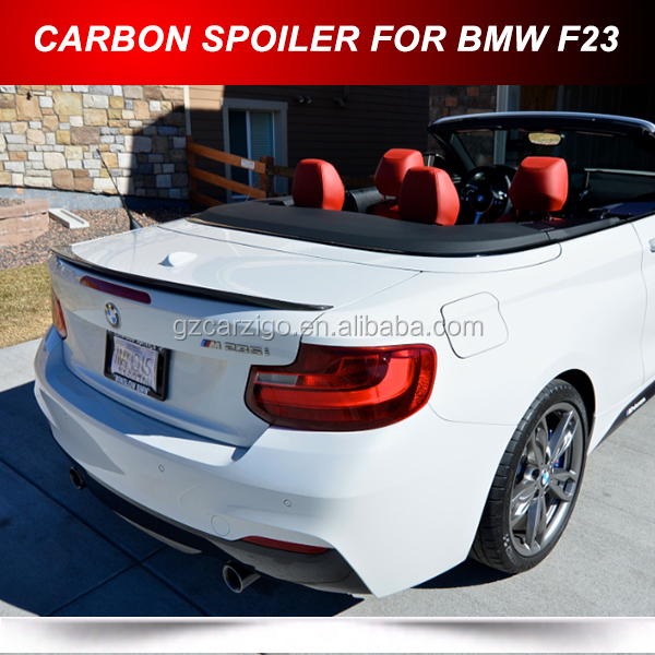 FOR BMW 2 Series F23 Convertible 2 DRS Carbon Rear Spoiler 2014+