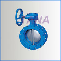 Flanged Teflon Lined Concentric Disc Butterfly Valve