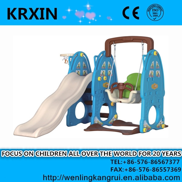 plastic kids playground swing and slide set KRX-7204 swing toy slide toy