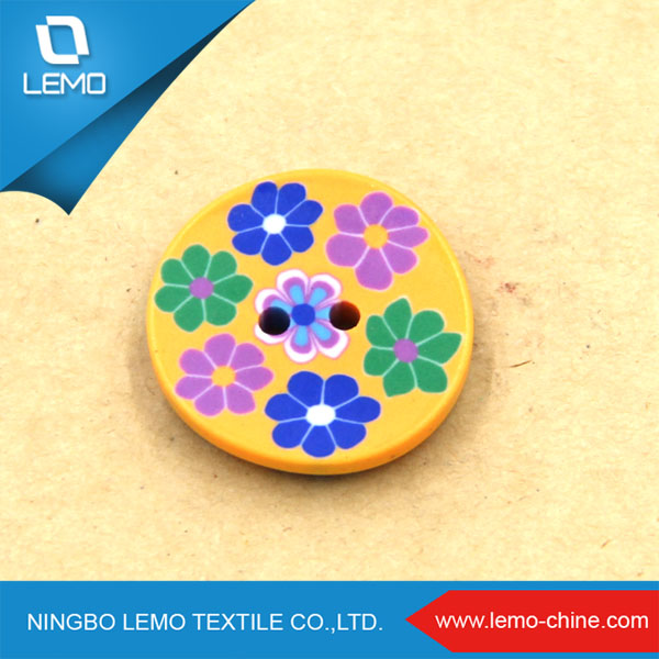Colorful Custom Coat Wooden Button for Sale