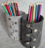 Felt large capacity pen container