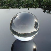Clear Polished Crystal Glass Sphere Ball