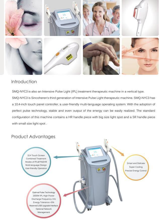 FDA approved Beauty salon/spa use ipl shr opt hair removal device