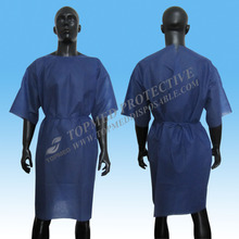 Medical Supplies Dark Blue Sleeveless hospital patient gown disposable for X-ray examination