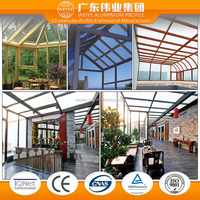 China suppliers extruded aluminium profiles for glass house lowes sunrooms