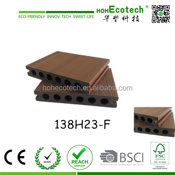 High quality capped composite decking floor outdoor wpc decking co-extrusion composite decking