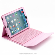 Waterproof silicone wireless bluetooth keyboard leather table case for iPad air