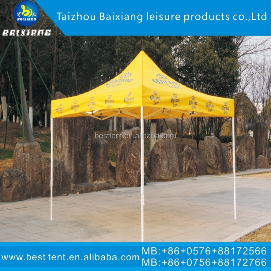 3x3m steel factory manufacture PVC roof screen printing outdoor canopy Tent