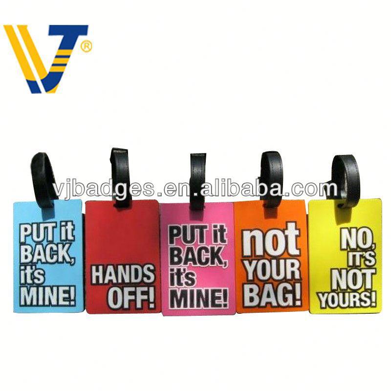 2013 New product traveling bag silicone rubber hang tag label