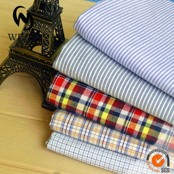 check and stripe fabric garment