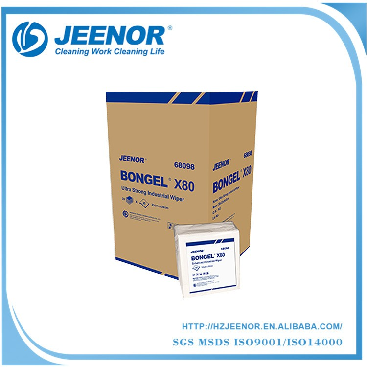Hot sell High performance X80 Embossed Wood Pulp Spunlace Nonwoven Industrial Cleaning Wipes Tissue Paper, Industrial Wipe