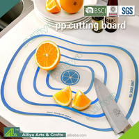 FDA LFGB approved abrasion resistance eco-friendly flexible durable multifunctional pp plastic cutting board