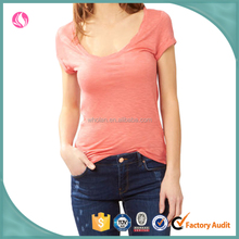 Wholesale t shirt manufacturer china women tagless plain t shirts
