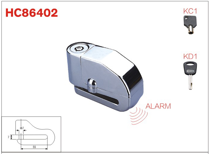 Smart Alarm Disc Brake Lock ,motorbike accessories,electricle lock