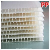 2mm-12mm Blank Twin-Wall Corrugated Plastic Sheet