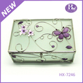 New Product HX-7246 Square Butterfly Decorative Acrylic Trinket Box
