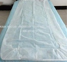 eco-friendly disposable bed cover/bed spread/couch cover for hospital, spa