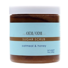 Natural Brown Sugar Scrub - Oatmeal & Honey For gentle exfoliation and to soften skin