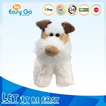 Customized plush white long leg dog toys