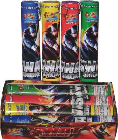 Swat Color Smoke Novelty fireworks for signal, SOS , etc