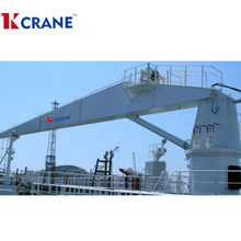 Folding Jib Deck Crane Professional Ship crane for sale Offshore Pedestal Marine 10 ton crane
